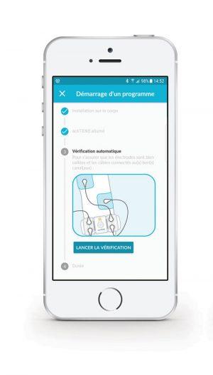 Application actiTENS : lancement de la vérification